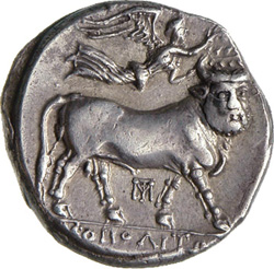 River Sebethus on Neapolis' coin